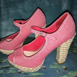 Women's AMERICAN RAG Light Red / Pink Heels Size 7